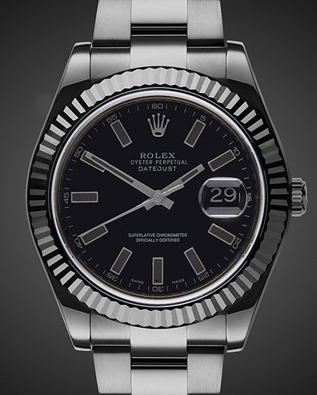 Black DLC Rolex Datejust II: Shadow