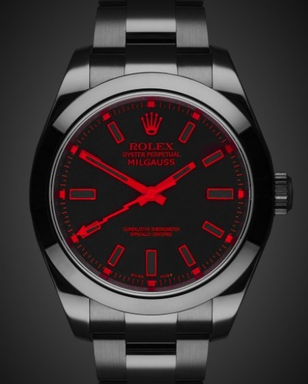 Rolex Milgauss Red Knight - TBlack DLC Coating