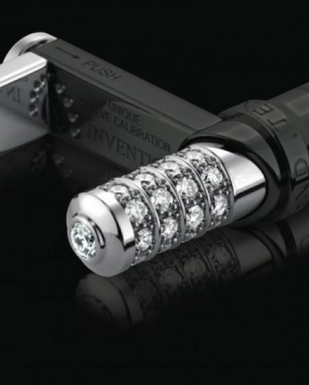 RZ8 Mark II Ziletto Slyders with White Diamonds Titan Black