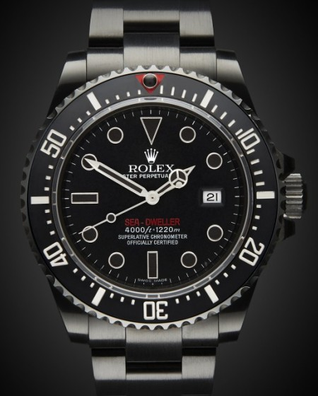 Titan Black PVC DLC Rolex Sea Dweller Double Red