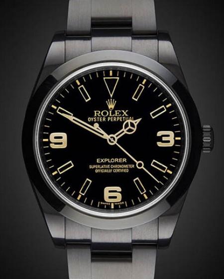Titan Black Rolex Explorer: Oro