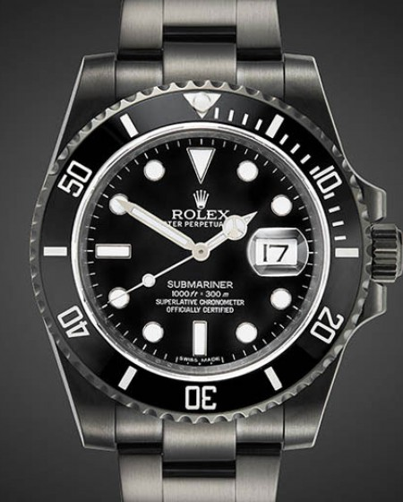 TITAN BLACK Rolex Submariner MKI DLC PVD BLACK ROLEX