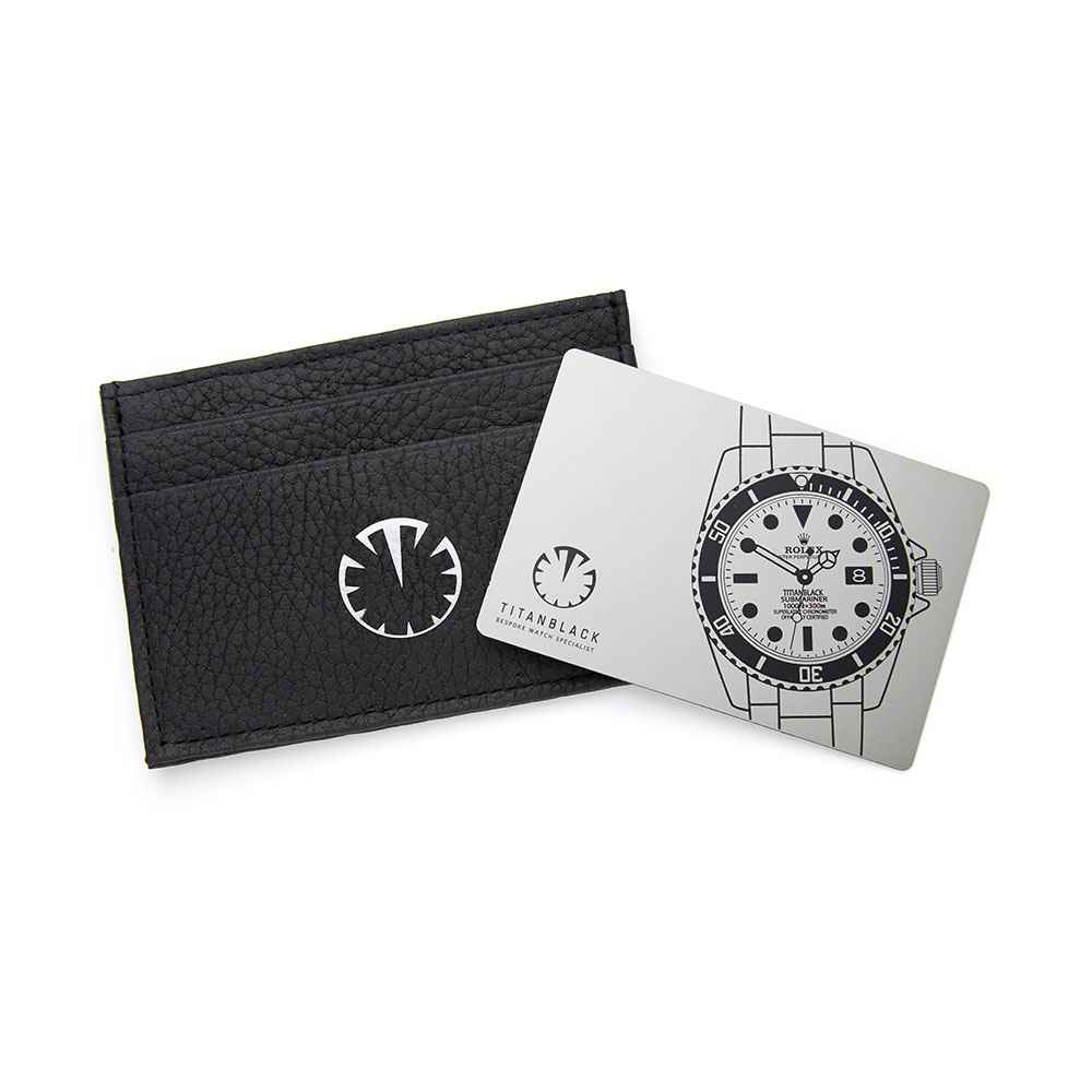 Titan Black 5 Year Warranty Card & Leather Wallet DLC BLACK ROLEX
